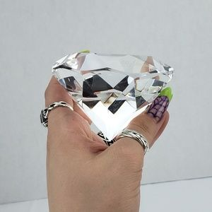 OLEG CASSINI  Crystal Diamond Bling Paperweight